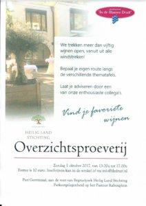 Overzichtsproeverij 1 Oktober 2017 Piet Gerrits Zaal Begraafpark